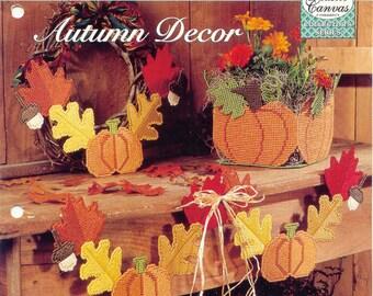 Autumn Decor ~ plastic canvas pattern  ~  The Needlecraft Shop  ~  Vintage