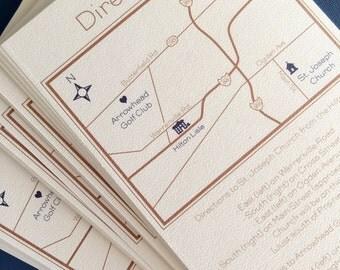 Custom Wedding Map, PDF file
