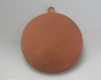 solid copper pendant blank-beading supplies- copper supplies-jewelry supplies-ONE BLANK