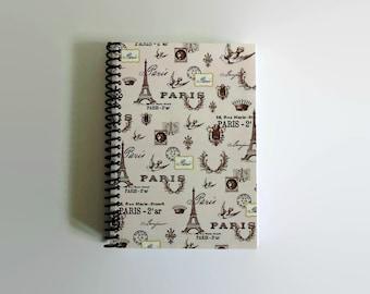 Pink Paris, Travel Journal, Spiral Notebook, Pocket Journal, A6, Notebook, Blank Notebook, Sketchbook, Writing Journal, Spiral Bound, 4x6