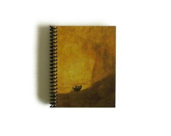 The Dog by Goya Spiral Bound Journal, Diary Notebook, Back to School, Pocket, Black Painting, Writing, Blank Sketchbook, Cute Gifts Under 15