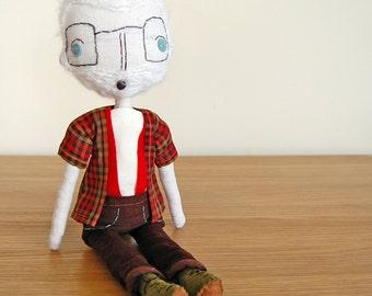 Rag Doll, Grandpa Doll, Father Gift, Boy Doll, Cloth Doll, Fabric Doll, Custom Doll, Dad Gift, Personalized Grandparent Gift