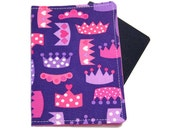 Princess Crowns on Pink Passport Cover/Holder/Wallet