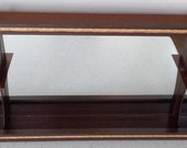 Mid Century Shadow Box Mirror Wall Shelf GORGEOUS