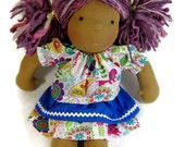 Waldorf doll peasant top and double skirt outfit for 14, 15, 16 inch dolls