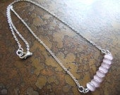 Feminine Glow Catseye Antique Silver Plated Chain necklace