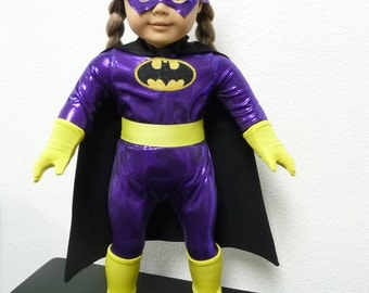 Bat Girl Purple, Batgirl Purple, Super Hero Doll Clothes, outfit or costume Cosplay for American Girl Doll