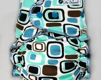 Cloth Diaper or Cover Made to Order - Rounded Squares - You Pick Size and Style - Custom Nappy or Wrap - Swim Type Knit (Poly/Lycra)