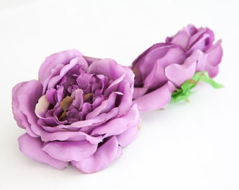 Vintage Inspired Rose In Pearly Purple - Silk Artificial Flowers - ITEM 0144