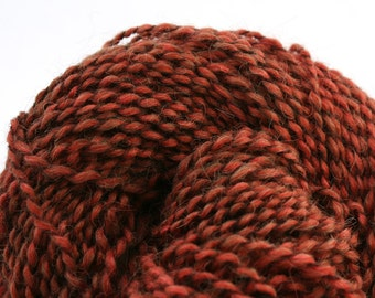 Middlefield Hand Dyed aran weight wool alpaca blend 200 yds 4oz Mahogany