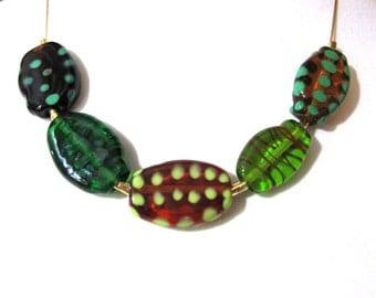 SariGlassman - Lampwork necklace - Handmade Glass necklace - Sida necklace - OOAK - 14k Gold-Filled SRA