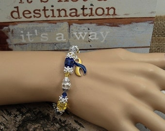 YB-4 Down Syndrome Bracelet Jewelry Dercums Disease Down Syndrome Awareness Jewelry / Beaded Bracelet Gift For Her