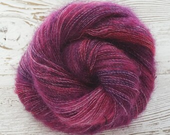Mohair, Nylon, Bamboo, Lace, Hand Dyed Yarn