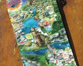 ReCyClEd Theme Park map from UNIVERSAL Orlando--Harry Potter