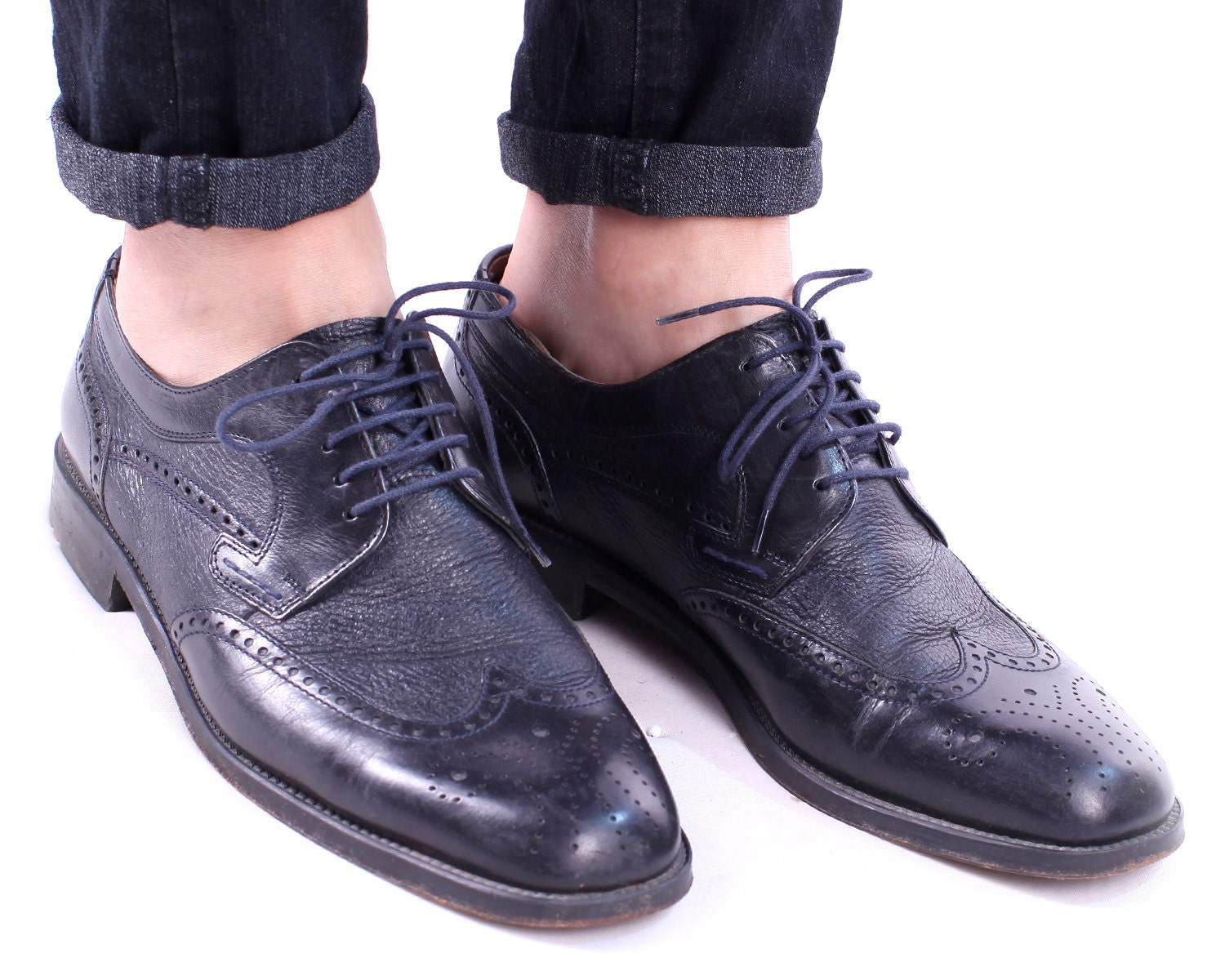 vintage brogues for black dress shoes 1990s by lloyd
