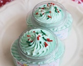 Whipped Soap Cream Fluff Christmas Tree - Fluffy Whipped Soap, Whipped Soap, Stocking Stuffer, Soap in a Jar, Teen Gift, Christmas, Holiday