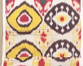 Silk Ikat Handwoven Multicolor Natural