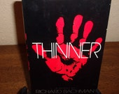 Thinner by Richard Bachman (Stephen King) Hard Back Book w/Dust Jacket-1984-BCE