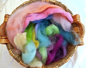 Shetland wool, 1.05oz/30gr, hand dyed, 16 colors, eco child friendly