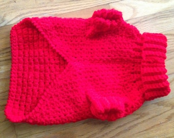 Large Red Dog Sweater
