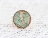 Italy Map Statement Ring -  Map Jewelry - Map of Italy - Gift For Traveler - Novelty Ring - Gift For Woman - Adjustable Ring