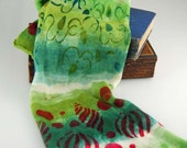 Dyed to order-Single knit sock Blank-Christmas Tree
