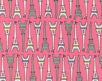 Eiffel Towers in Sweet Pink, Oui Oui Paris Collection by Suzy Ultman, yard