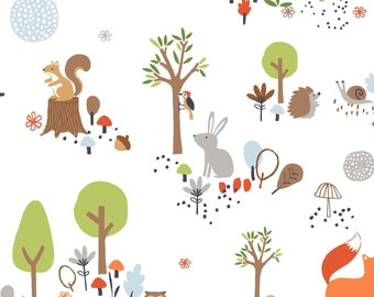 Gentle Forest by Studio E - Gentle Forest Animals on white, yard
