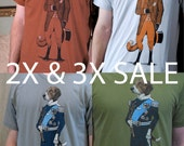 2X and 3X Men's Shirts Sale - Plus Size Sale - Men's Tshirts - Graphic Tees - Sale Items - Valentines Gifts