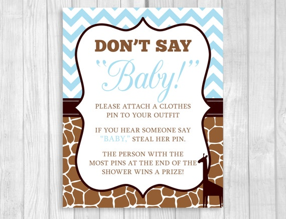 Printable Don T Say Baby 8x10 Clothes Pin Or Pacifier
