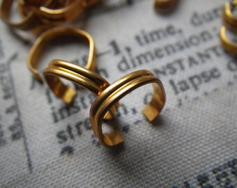 Brass Bracelet Links 2mm Heavy Corrugated 20 Gauge 6 Pcs
