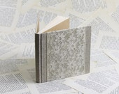 Natural Linen and Vintage Lace Medium Size Notebook