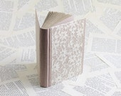 Old Rose Linen Journal with Vintage Lace and Handsewn Silk Endbands, Medium Size
