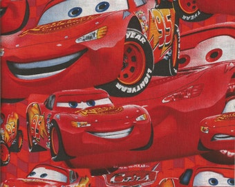 1pr DISNEY CARS valances. Each piece is 42x14...total is 84x14.  Inventory reduction clearance sale