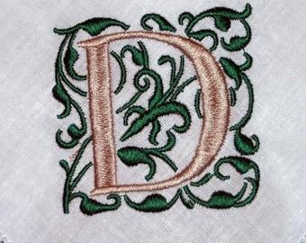 Napkin, Dinner Linen Napkins, hemstitched linen, monogrammed wedding gift, embroidered napkins, set of 8 Gracie monogram