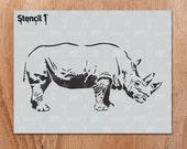 Rhino Stencil - Reusable Craft & DIY Stencils- S1_01_302 - 8.5x11 - By Stencil1