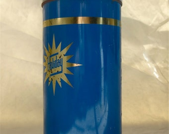 Holiday Blue Thermos - Made in Brentwood England - Thermos Limited - .45 litres - Glass Lined