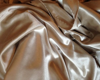 Gold/pewter sewing fabric - tricot weave - 1 yard