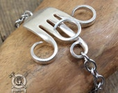 Antique Fork Bracelet - Adjustable - Handmade by Doctor Gus from Upcycled Sterling Silver Plated Forks - Repurposed Boho Silverware Jewelry