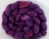 How Do You Know She's A Witch Hand-Dyed Wensleydale Top 4 oz.