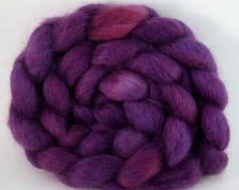 How Do You Know She's A Witch Hand-Dyed Wensleydale Top 4.9 oz.