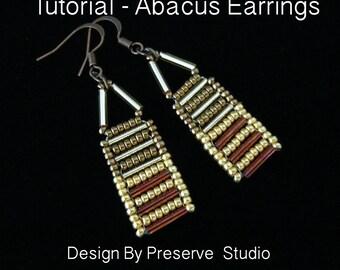 Jewelry Tutorial, Seed Bead Earrings, Beading Tutorial, Abacus Earrings, Bugle Bead Earrings, DIY Earrings