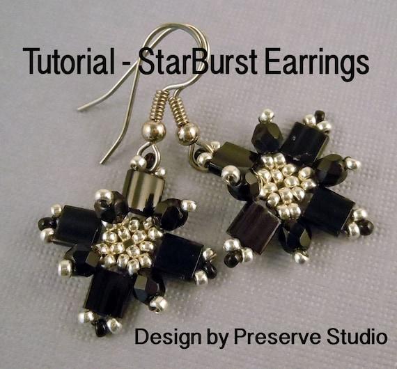 Tila Bead Tutorial, Earring Tutorial, Peyote Earrings, Easy Earring Tutorial, Seed Bead Tutorial, Earring Tutorial