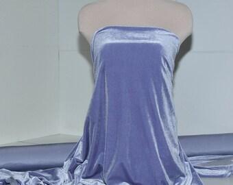 Stretch Spandex Velvet Lilac 4 ways stretch..formal wear, pageant, home decor, crafts, bridal