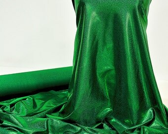 Mystique Spandex Sparkly Jewels Kelly green   Stretch fabric.... cheer bows... dance skate gymnastics twirl  pageant  BTY
