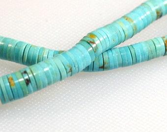 Graduated Chinese turquiose heishi beads