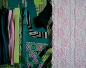 DIY Fabric and notions Multicolor Graphics & Pink for 1 BRA and BRIEF by Merckwaerdigh