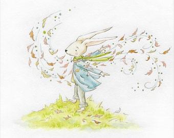 Faith is Like the Wind Art Print Childrens Print Inspirational