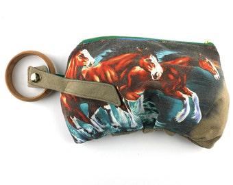 Wild Horses on the Run Vintage T-shirt Bracelet Handbag