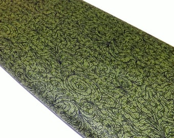Northcott 3017-77 Mark Lipinski's Home Elements Green Swirls Quilting Sewing Textile Fabrics Quilt Place-mats Pillows Tote bags Wallets